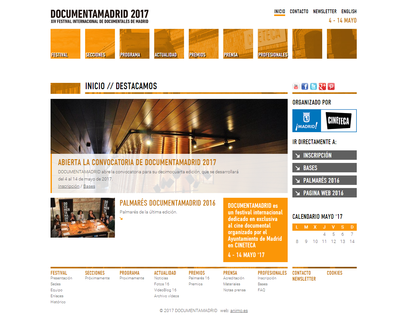DOCUMENTAMADRID 2017, XIV Festival Internacional de Documentales de Madrid